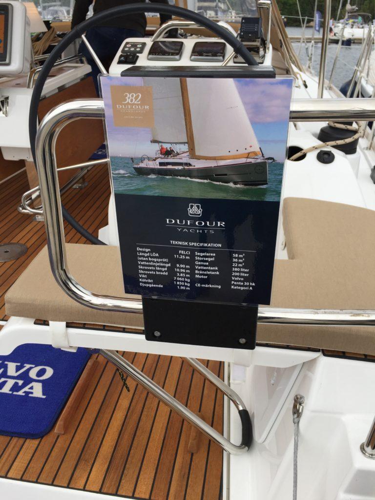 Dufour 382 på båtmässan i Gustavsberg 2017