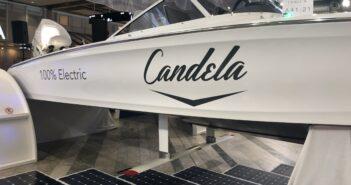 Candela Seven- elektrisk foilbåt visas på båtmässan 2020