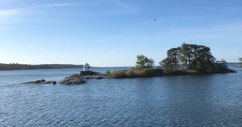 Skärgårds ö utanför Nynäshamns konferens