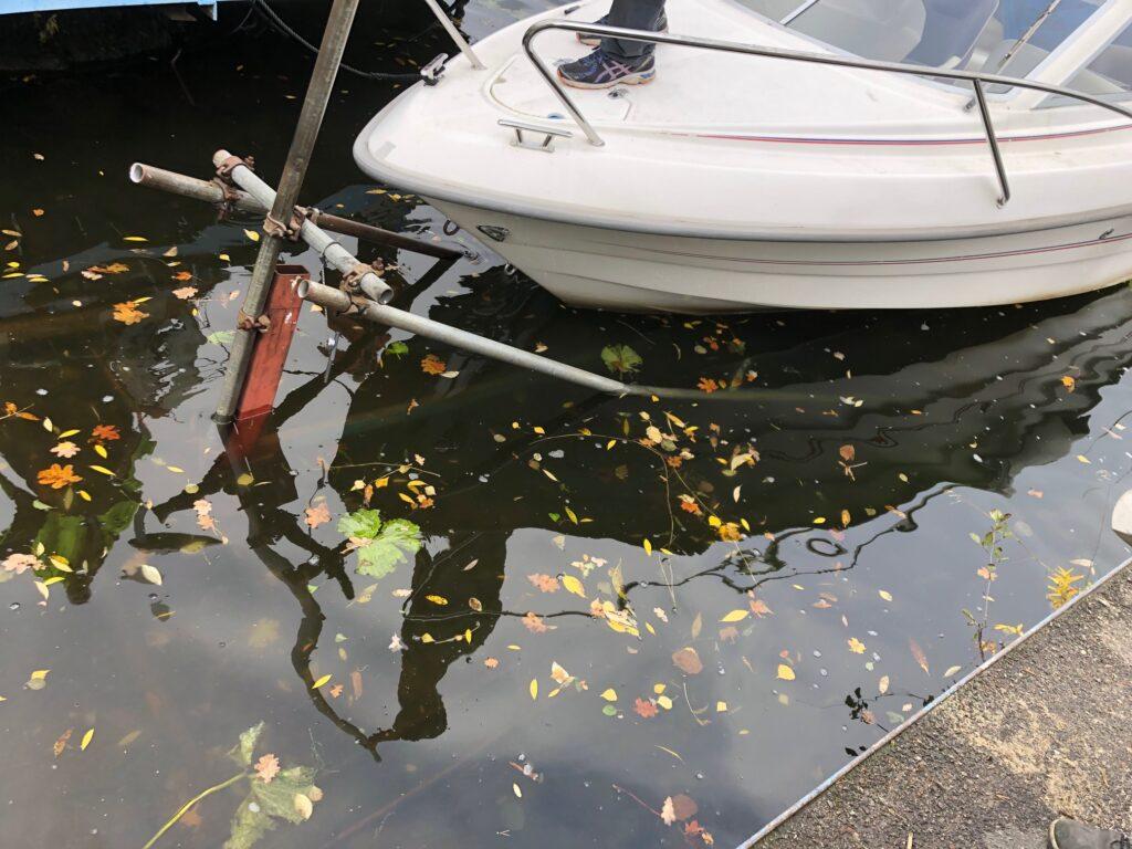 Båtramp för att ta upp båten