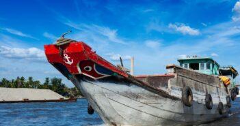 Boat. Mekong river delta, Vietnam