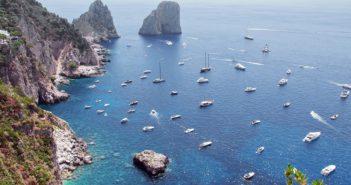 capri - många fartyg