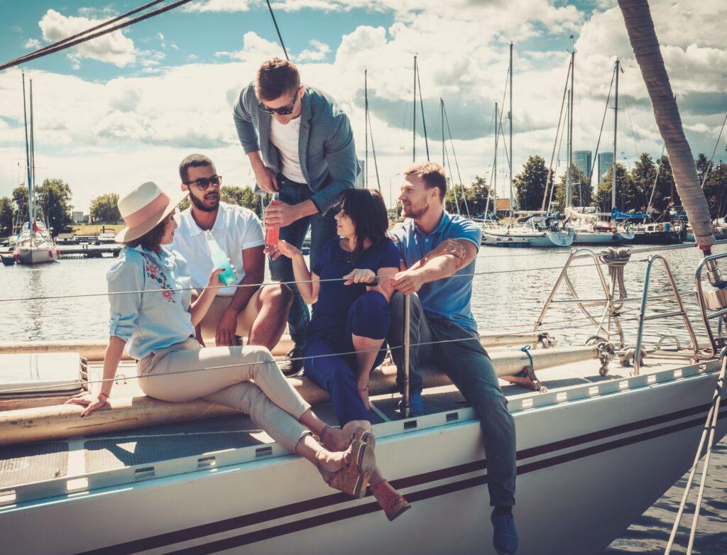Vänner på båt