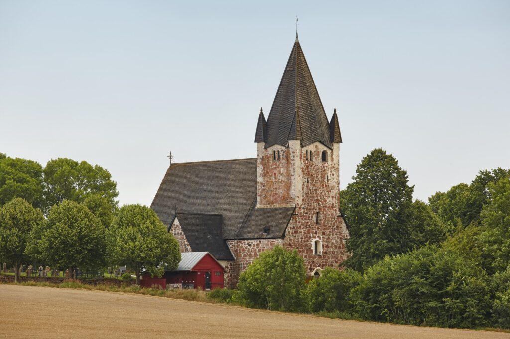 St. Mikacis church, Finstrom. Aland archipelago. Finland heritage. Horizontal